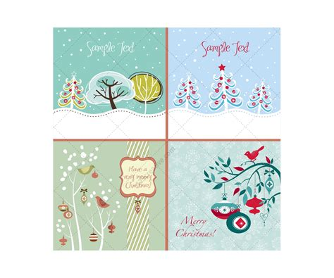Card Decoration Templates by Winter And Vector Greeting Cards Beautiful