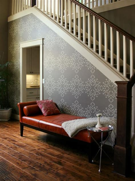 Living Room Stencils by How To Stencil A Focal Wall Hgtv