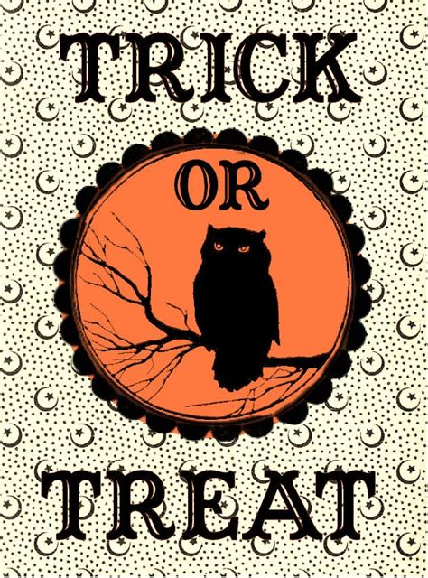 Trick Or Treat Graphic 7 Original Oceanseven 7 best images of free printable vintage free printable trick or treat