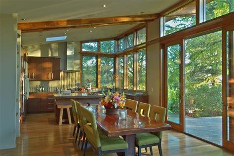 The Green Room Stillwater by Jetson Green Butterfly Roofline Prefab On Sauvie Island
