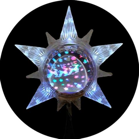 led lighted star with revolving globe christmas tree