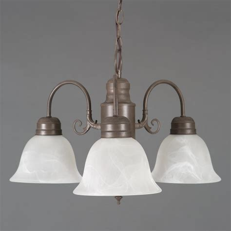 Brown Chandelier Shades Yosemite Home Decor Manzanita 3 Light Brown Hanging Chandelier With Frosted Marble Glass