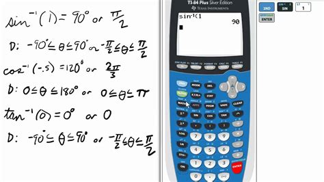 calculator arcsin inverse trig on ti 84 graphing calculator youtube