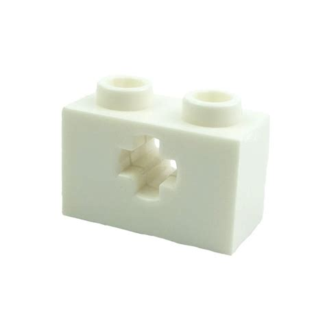 brick pattern exles lego spare parts brick 1x2 with axle hole white