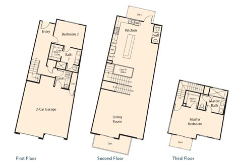 Shea Homes Floor Plans | v by shea homes new townhomes in leucadia north county