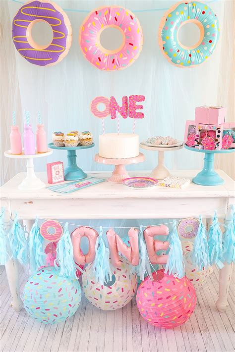 themes for girl 1st birthday party 46 best donut party ideas images on pinterest frost