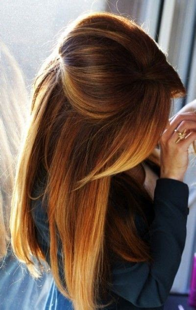 ombre half up half down hairstyles straight hair half up half down pouf beauty pinterest