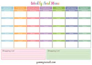 1 good reason to have a weekly food menu yummy seconds