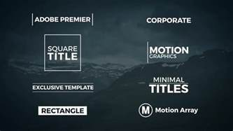 adobe premiere titles templates 8 minimal titles premiere template premiere pro templates