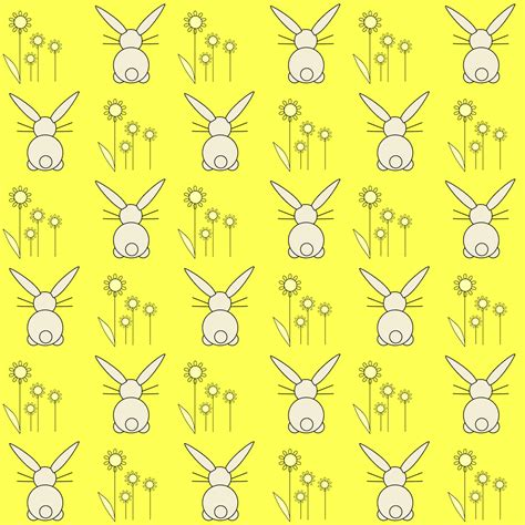 free printable yellow paper free digital bunny scrapbooking paper