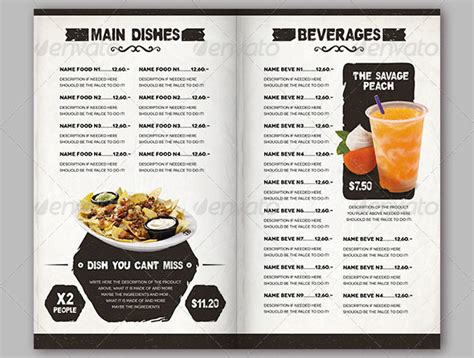 free restaurant menu template psd 13 food menu psd images mexican restaurant menu template
