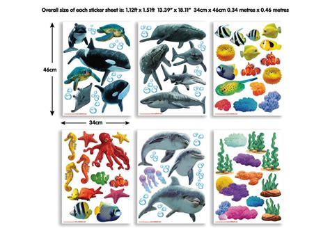 Wandtattoos Kinderzimmer Fische Meereswelt by Wandsticker Wandtattoo Meereswelt Fische