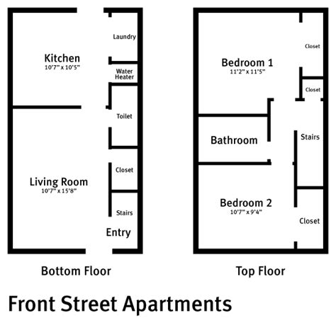 two story apartment floor plans front apartments college