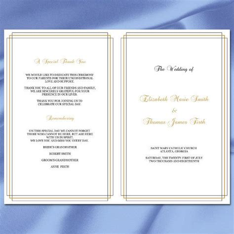 17 Best Ideas About Wedding Ceremony Booklet Templates On Pinterest Wedding Programs Ceremony Editable House Of Quality Template