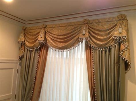 traditional curtains and valances traditional swag valance and drapery curtain couture