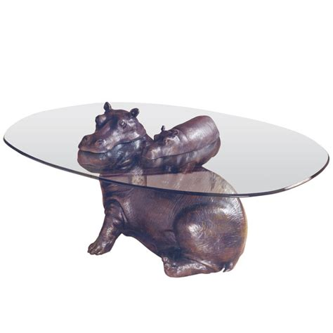 Hippo Coffee Table Bespoke Bronze Sculpture Stoddart Hippo Baby Coffee Table