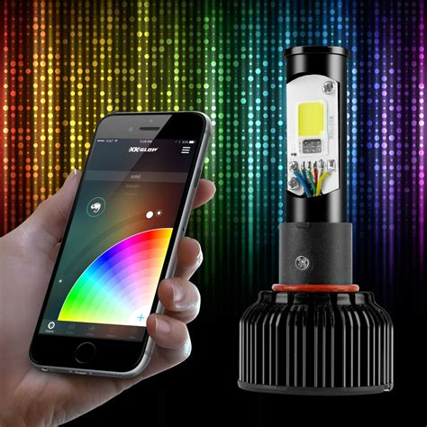 color changing led headlights h13 2in1 led headlight bulbs color changing eye for