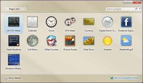 Desk Top Gadgets by Windows 7 Desktop Gadgets