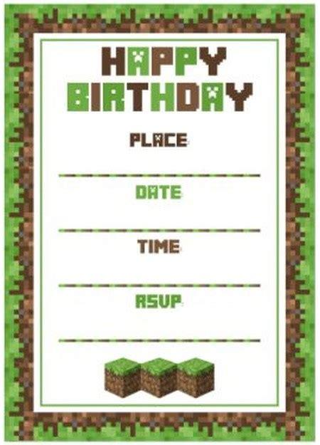 minecraft party invitations marialonghi com
