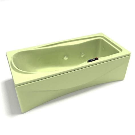 green bathtub with controllable water jets 3d model