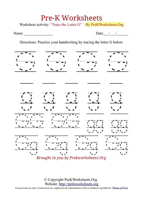 worksheets for preschool letter g image gallery lowercase g tracing worksheets