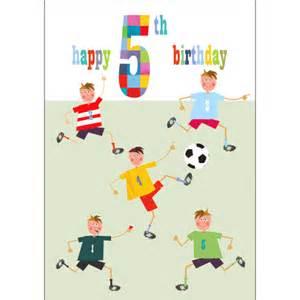 footballers 5th birthday card karenza paperie