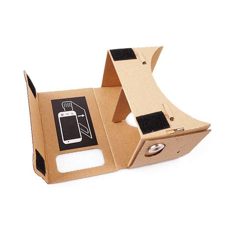 Cardboard Vr Silver Magnet For Smartphone 3 5inchi T0210 cardboard vr 3d glasses with black magnet for iphone samsung