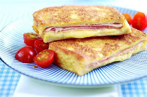 scow bread recipe eggy bread with ham and cheese recipe goodtoknow