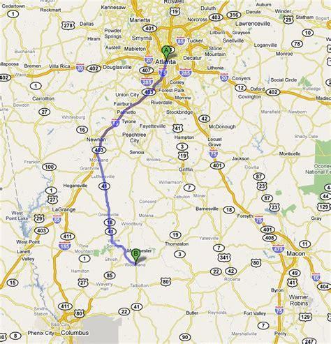 map of atlanta with exits woodland vacation rental