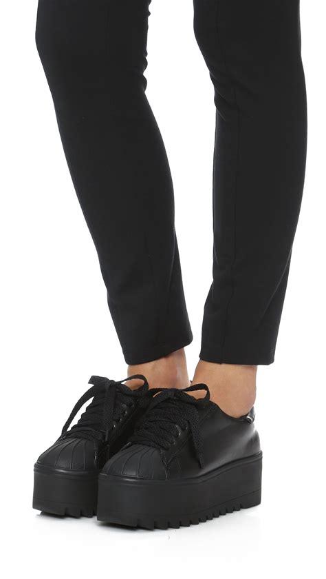 platform black sneakers lyst jeffrey cbell synergy platform sneakers in black