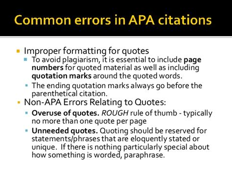 apa format quotation marks and periods apa crash course
