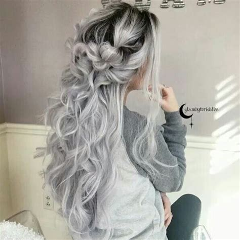 platinum gray ombre hairstyles elsa platinumgrey ombr greyicy ombr pinterest elsa of