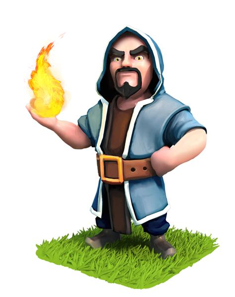 Clash Of Clans Wizard C003 clash of clans wizard purim magier