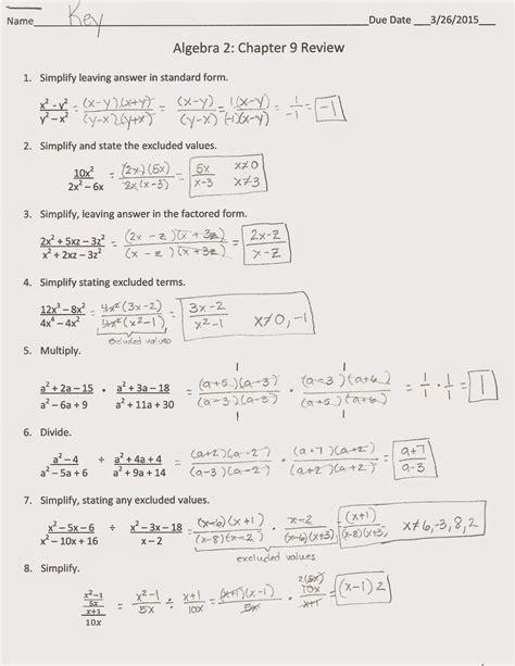 Algebra 1 Review Problems With Answers Homeshealth Info