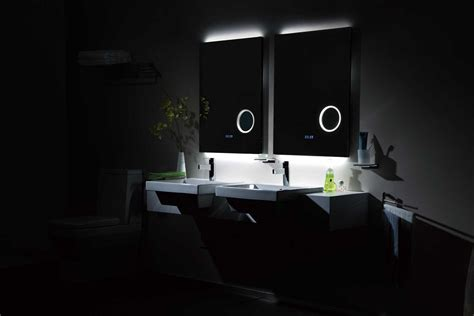Kitchen Color Ideas White Cabinets rectangle frameless mirror with led magni er digital clock