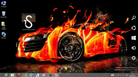 car themes for windows 8 1 download fire car effect theme for windows 7 and 8 ouo themes