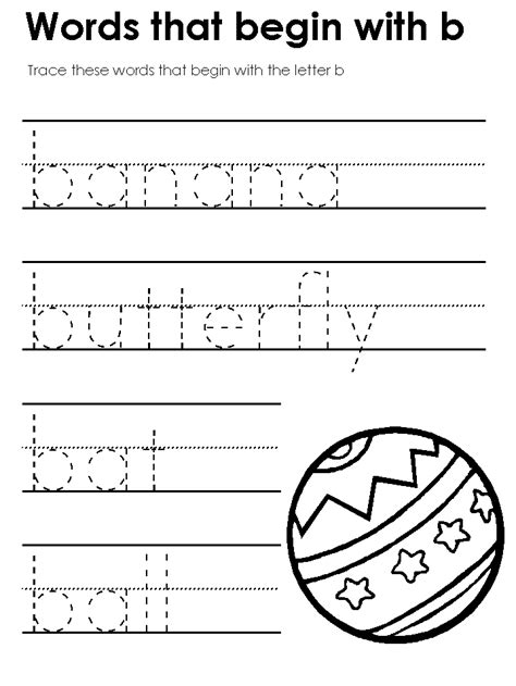 worksheets for preschool letter b letter b preschool worksheets free worksheets library