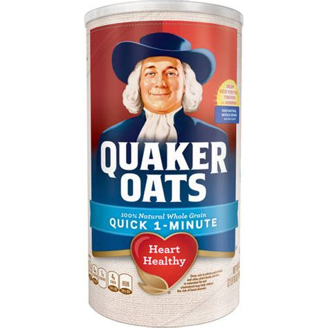 a whole grain oatmeal quaker oats 1 minute oats 42 oz walmart