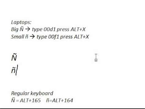 ene letter in keyboard how to type enye 209 241 faster in msword