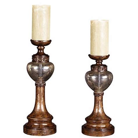 Bronze Glass Candle Holders Set Of 2 Bronze Mercury Glass Candle Holders Y3662