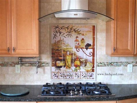 kitchen backsplash mural tuscan backsplash tile murals tuscany design kitchen tiles