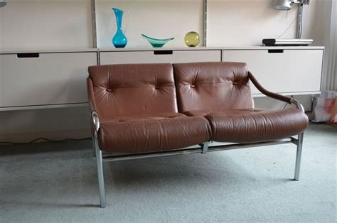 Sofa 1 Seater White Js 44 Furniture vintage retro 70 s pieff beta two seater brown leather and chrome sofa in home furniture
