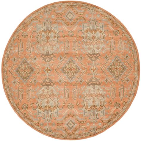 7 x 7 rug safavieh wyndham terracotta 7 ft x 7 ft area rug wyd203a 7r the home depot