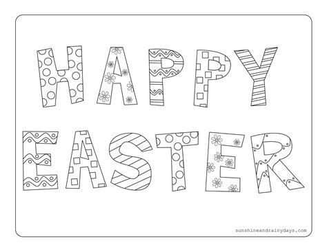 happy easter coloring pages happy easter coloring page and rainy days