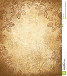 Steampunk Wedding Invitations Vector Leaves Pattern On Old Paper Background Stock Image Image 36010111