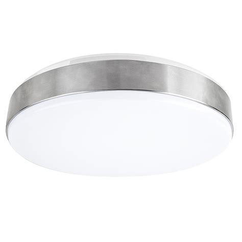 Ceiling Light Wattage 15 Quot Flush Mount Led Ceiling Light W Brushed Nickel Housing 100 Watt Equivalent Low Profile