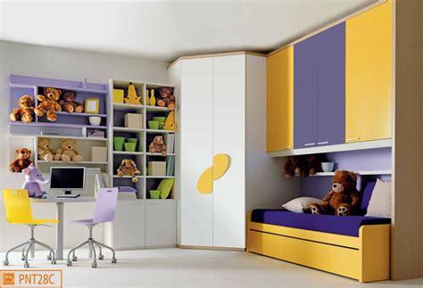 camerette con cabina armadio angolare cameretta a ponte per bambini con cabina armadio angolare