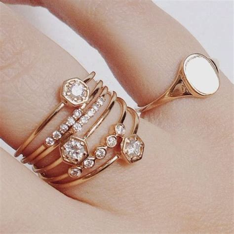 25 best ideas about stacking rings on