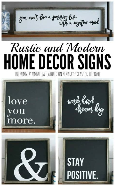 home decor signs rustic and modern home decor signs giveaway