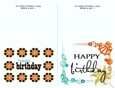 free birthday card printable templates template